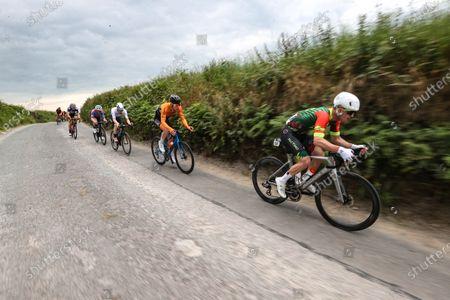 The Mens Senior Race. Matteo Cigala Team Dan Morrissey - McCarthy Insurance Group - Pactimo leads the race