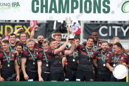Editorial photo of Saracens v Ealing Trailfinders, Rugby Union, Greene King Championship PlayOff Finall 2nd Leg, StoneX Stadium, Hendon, London, UK - 20/06/2021