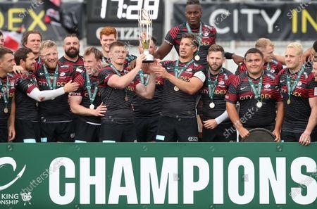 Editorial image of Saracens v Ealing Trailfinders, Rugby Union, Greene King Championship PlayOff Finall 2nd Leg, StoneX Stadium, Hendon, London, UK - 20/06/2021