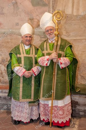 Editorial picture of Archbishop of Santiago de Chile at the Title of Saints Nereus and Achilleus, Terme of Caracalla, Rome, Italy - 19 Jun 2021