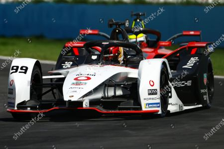 German Pascal Wehrlein, of Porsche team, competes during the second race of Formula E championship , at Miguel E. Abedin racecar in the state of Puebla, Mexico, 20 June 2021.