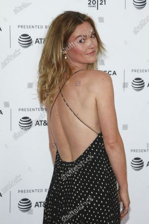 """Actress Julia Stiles attends the premiere of """"The God Committee"""" during the 20th Tribeca Festival at Brooklyn Commons MetroTech, in New York"""