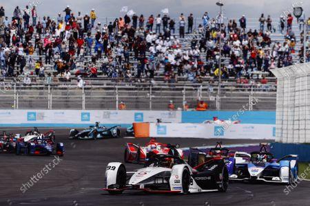 Pascal Wehrlein (DEU), Tag Heuer Porsche, Porsche 99X Electric, leads Jake Dennis (GBR), BMW I Andretti Motorsport, BMW iFE.21, and Jean-Eric Vergne (FRA), DS Techeetah, DS E-Tense FE21 during the 2021 Formula E Round 9 - Puebla E-Prix