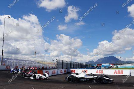 Edoardo Mortara (CHE), Venturi Racing, Silver Arrow 02, leads Pascal Wehrlein (DEU), Tag Heuer Porsche, Porsche 99X Electric during the 2021 Formula E Round 9 - Puebla E-Prix