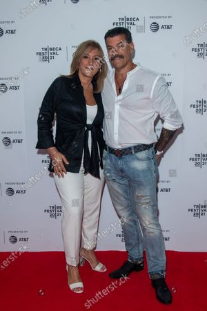 John Bianco and guest attend the Clean Premiere during the 2021 Tribeca Festival at Brooklyn Commons, MetroTech in New York City.