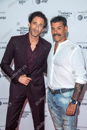 Stock Photo of Adrien Brody and John Bianco attend the Clean Premiere during the 2021 Tribeca Festival at Brooklyn Commons, MetroTech in New York City.