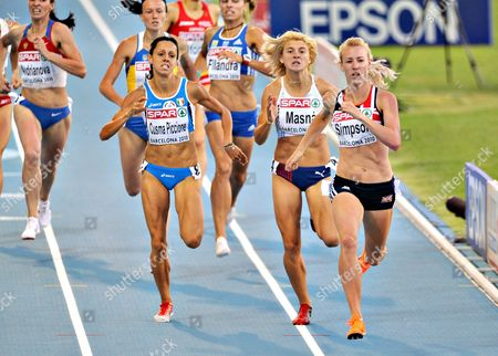 Stock Photo of Jemma Simpson (1st r) in round one, heat 2 of the Women's 800m
