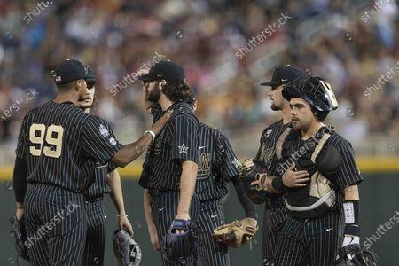 Editorial photo of CWS Arizona Vanderbilt Baseball, Omaha, United States - 19 Jun 2021