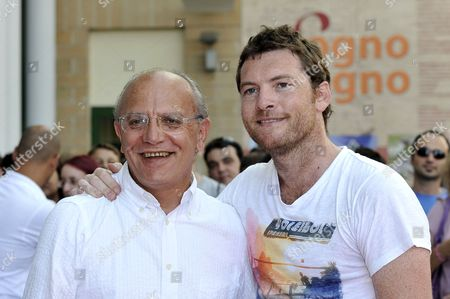 Sam Worthington and Claudio Gubitosi
