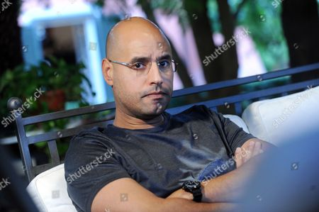 Editorial photo of Saif Al Islam Gaddafi in Rome, Italy - 22 Jun 2010