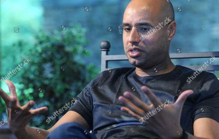 Editorial photo of Saif Al Islam Gaddafi in Rome, Italy - 22 Jun 2010