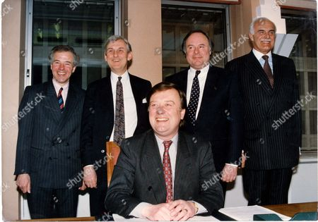 Kenneth Clarke - Mp - Politician - 1992 Pictured With Rt Hon Kenneth Clarke Mp Home Secretary At The Home Office This Morning Are His Team L To R.: Michael Jack Peter Lloyd Charles Wardle And The Earl Ferrers. .