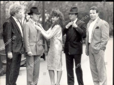 Derek Hatton - Councillors - 1987 Colin Baker Christopher Timothy Tracy Mckenna Russell Harty And Derek Hatton At A Press Conference At London's Savoy Hotel To Promote The International Men's And Boy's Wear Exhibition...