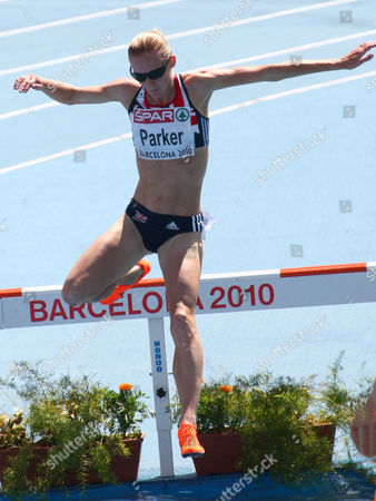 Barbara Parker in the 3000m steeplechase