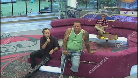 The Geordie voice of 'Big Brother' Marcus Bentley enters the house as part of the latest Big Brother Task and tries to distract Steve Gill