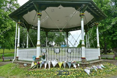 Floral tributes have been left in the bandstand for the victims of the terrorist attack at Forbury Gardens in Reading. At a memorial service held on Sunday in the gardens where the attacks took place, friends, family members and officials honoured James Furlong, Joe Ritchie-Bennett and David Wails. The three friends were killed a year ago by 26-year-old Khairi Saadallah, from Libya. Saadallah also injured three others, Stephen Young, 51, Patrick Edwards, 29, and Nishit Nisudan, 34, who he attacked with an eight-inch knife.
