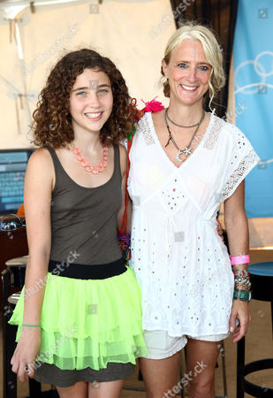 Stock Picture of Nanette Lepore and Violet Savage (daughter)