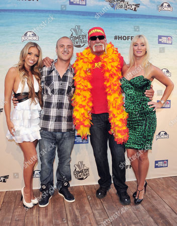 Bre Tiesi, Nick Hogan, Hulk Hogan and  Jennifer McDaniel