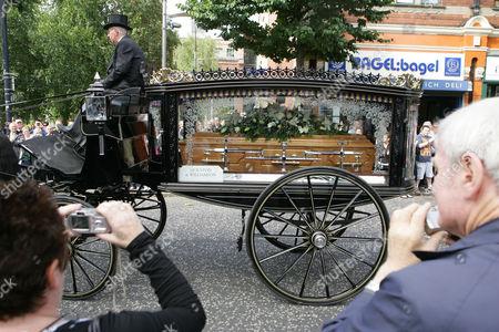 Alex Higgins' funeral cortege