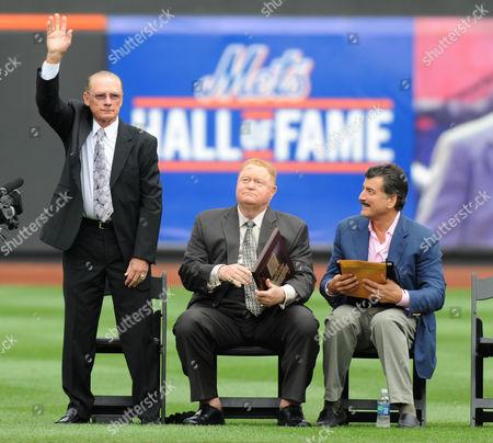 Bud Harrelson, Rusty Staub and Keith Hernandez