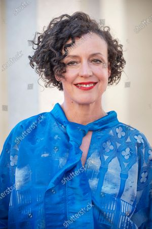"""Maria Schrader at the premiere of the film """"Ich bin dein Mensch"""" on the occasion of the Berlinale Summer Special 2021 of the 71st Berlin International Film Festival in the open-air cinema Museum Island."""