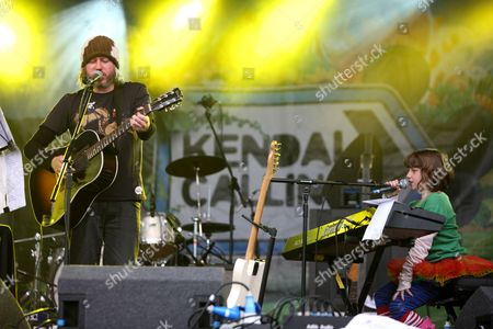 Badly Drawn Boy, aka Damon Gough with his daughter