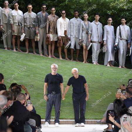 Armani show, Runway, Milan Fashion Week Men's
