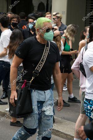 Editorial photo of Street Style, Spring Summer 2022, Milan Fashion Week Men's, Italy - 19 Jun 2021