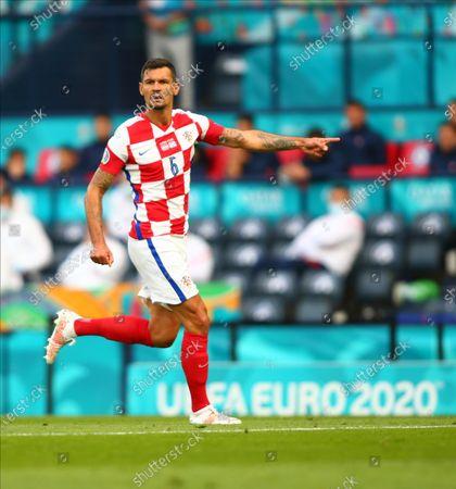 Dejan Lovren of Croatia; Hampden Park, Glasgow, Scotland; 2020 European Football Championships, Scotland versus Croatia.