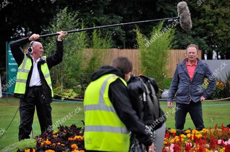 Rhs Flower Show At Tatton Park Knutsford Cheshire. -bbc Gardening Presenter Toby Buckland (r).