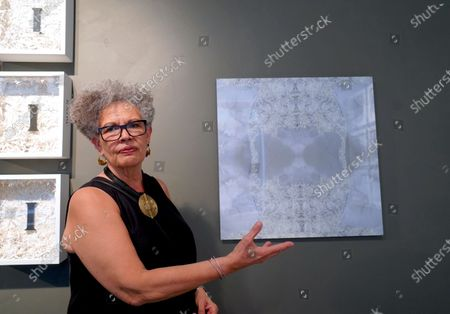 Stock Image of Love letters from the previous marriages of artist Margaret Rose Vendryes turned into art pieces by her are on display June 18th to July 17th at EFA Project Space, Elizabeth Foundation in New York City. Current exhibition curated by Danilo Machado.