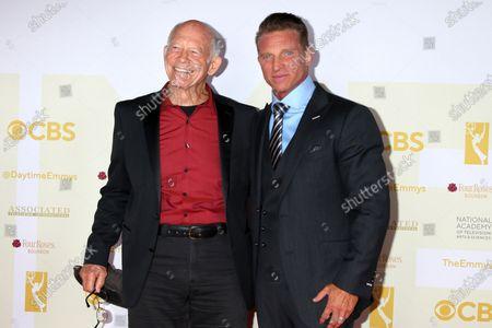 Max Gail and Steve Burton