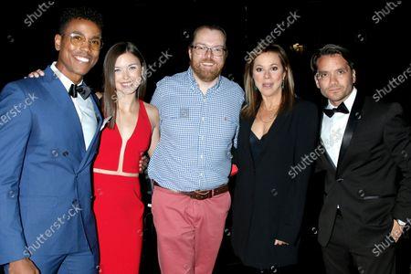 Stock Photo of Tajh Bellow, Katelyn MacMullen, Adam Sharp, Nancy Lee Grahn, and Dominic Zamprogna