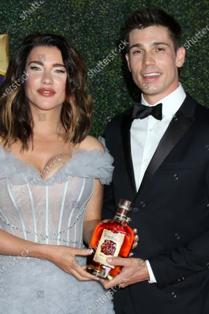 Jacqueline MacInnes Wood and Tanner Novlan with Four Roses Bourban