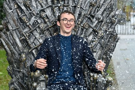 Editorial image of Game of Thrones 'The Iron Throne' statue unveiling, Leicester Square, London, UK - 22 Jun 2021