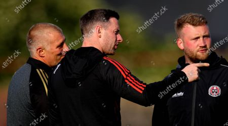 Stock Picture of Bohemians vs Shamrock Rovers. Dublin footballer and Bohs first-team performance coach Philly McMahon