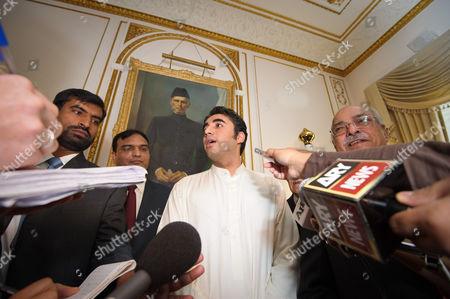 Bilawal Zardari Bhutto with the Pakistan High Commissioner Wajid Shamsul Hasan