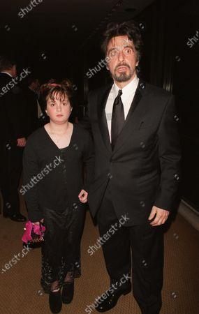 Actor Al Pacino and daughter Julie.