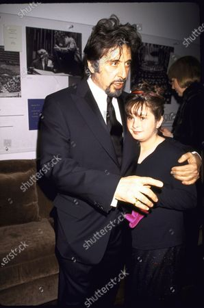 (L-R) Actor Al Pacino and daughter Julie at Film Society Tribute to Pacino.