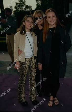 UNITED STATES - Actress Sissy Spacek and her daughters Madison Fisk and Schuyler Fisk during the 'Snow Day' premiere at the Paramount Theatre in Hollywood, California, United States.