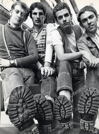 Slade - Noddy Holder Don Powell Jim Lea Dave Hill In Bovver Boots And Short Hair