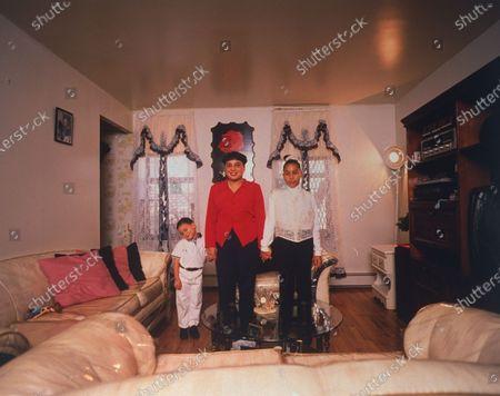 Editorial photo of Nicole Rodriguez;Jeanette Rodriguez [& Family];Nicholas Rodriguez, Bronx, New York, USA