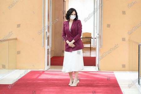 The President of the Community of Madrid, Isabel Diaz Ayuso seen after her inauguration at the Real Casa de Correos in Madrid. Last 19th Isabel Diaz Ayuso was invested again as president of the Community after winning, by a large majority, in the elections of May 4.
