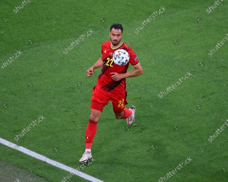 Nacer Chadli (22) of Belgium seen in action during the European championship EURO 2020 between Belgium and Finland at Gazprom Arena. (Final Score; Finland 0:2 Belgium).