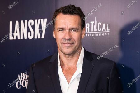 David James Elliott poses on the red carpet prior to the premiere of Lansky at the Harmony Gold Theater in Los Angeles, California, USA, 21 June 2021. The movie is set to be released on 25 June 2021.