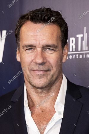 Stock Picture of David James Elliott poses on the red carpet prior to the premiere of Lansky at the Harmony Gold Theater in Los Angeles, California, USA, 21 June 2021. The movie is set to be released on 25 June 2021.
