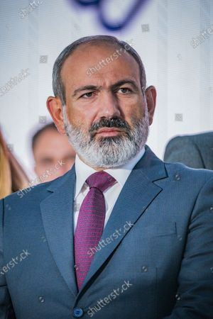 Nikol Pashinyan, main candidate for the Civil Contract party and Prime Minister of Armenia, in a rally in Yerevan after his victory in the parliamentary elections in Armenia.