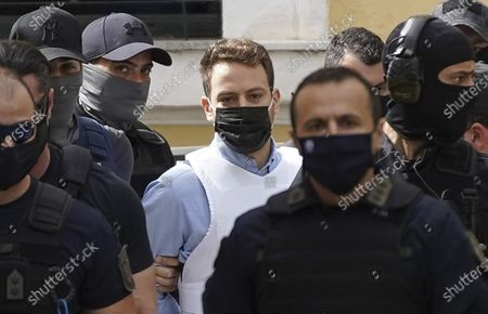 Babis Anagnostopoulos, husband of Caroline Crouch at court, Athens