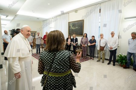 Pope Francis receives a group of inmates from Rome's Rebibbia prison, The Vatican