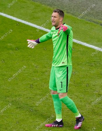 Maarten Stekelenburg of the Netherlands during the UEFA EURO 2020 Group C football match between North Macedonia and the Netherlands at the Johan Cruijff Arena  in Amsterdam.